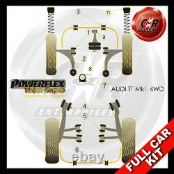 Audi Tt Mk1 4WD 99-06 Powerflex Noir Kit Complet Fin Modèles, Course Bras Moyeu