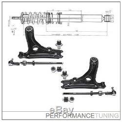 Kit -10 pcs- Bras de Suspension Avant, Gauche + Droite VW GOLF 2 / JETTA 2