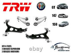 Kit 4 Bras Trw Suspension Avant Alfa Romeo 147 156 Gt 2 Supérieure 2 Inf