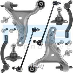 Kit Bras De Suspension + Rotules + Biellettes Essieu Avant Pour Volvo V70 S60