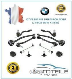 Kit Bras de suspension avant 12 pièces BMW X3 (E83) de 09/2006 à 12/2011