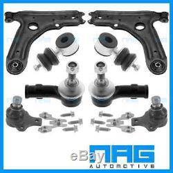 Kit Triangle Bras De Suspension 8 Pcs + Biellettes + Rotules Pour Vw Golf 3 III