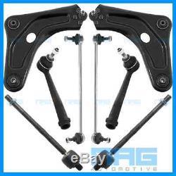 Kit Triangle Bras Suspension + Rotules + Biellettes 8 Pieces Avant Peugeot 207