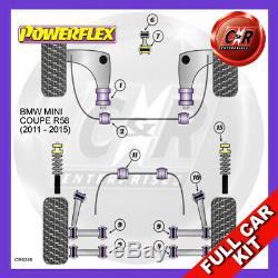 Mini R58 Coupé Auto 11-15 RR Trail Bras Fr Bush Embouts Powerflex Complet Kit