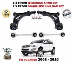 Pour VW Touareg 7L avant 2X Bras de Suspension 2x Stabilisateur Lien Barres Kit