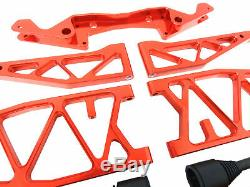 Rovan Baja Max Super Etendu CNC Aluminium Bras Suspension Kit Hpi 5B 5T Rouge