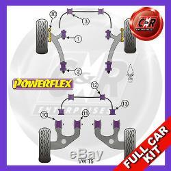 VW T5 03on Powerflex Kit Complet Wshbone Coussinet Arrière Adj, Bras Intérieur